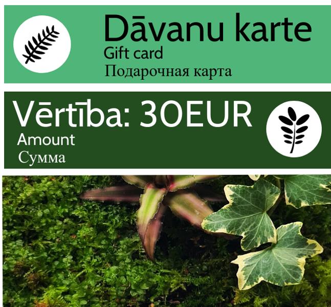 Dāvanu karte - 30 EUR