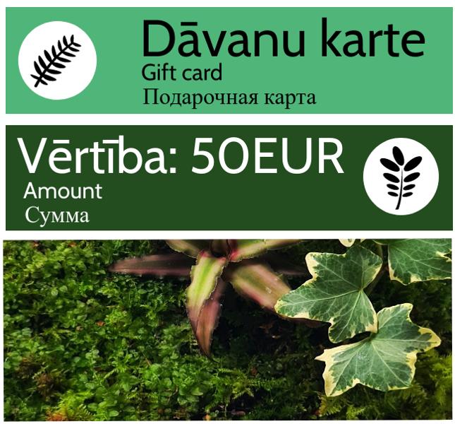 Dāvanu karte - 50 EUR