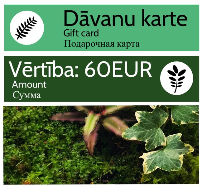 Dāvanu karte - 60 EUR